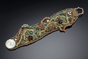 Bead Embroidered Cuff - Artist's Collection