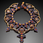 Nefertari's Legacy - Sold ($3,500)  Handblown Glass Beads by Betty Fetvedt
