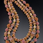 Royal Tiered Necklace - Sold ($1,000) 2008 Bead Dreams Finalist